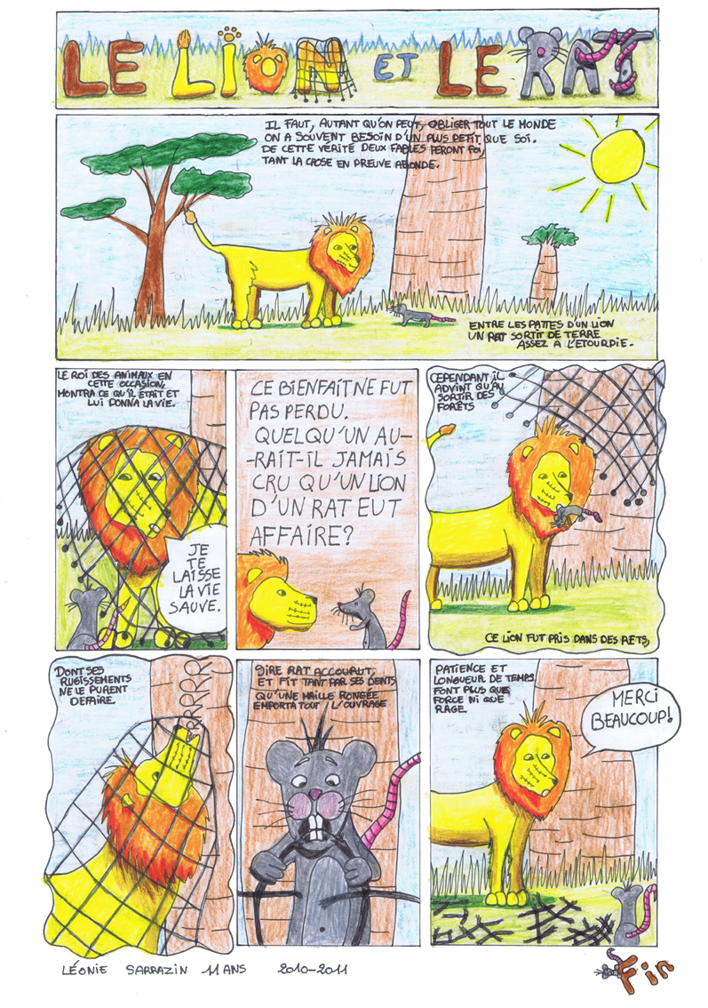 R alisations minibull ann e 2010 2011 bidibull 39 - Image le lion et le rat ...