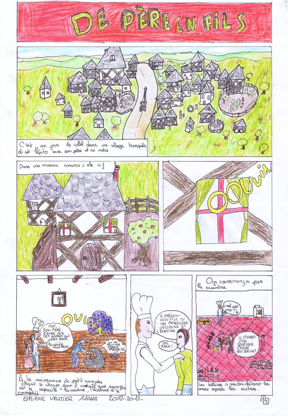 « DE PÈRE EN FILS » par Gaïane VAUTIERS, planche 1