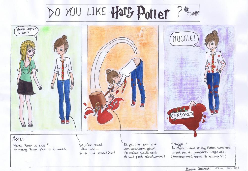« DO YOU LIKE HARRY POTTER ? » par Anouk DESMET
